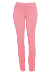 Cotton Twill Stretch Slim-Fit Jeans | Raspberry Sherbet