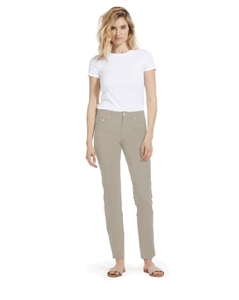 Cotton Twill Stretch Slim-Fit Jeans | Silvery