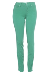 Cotton Twill Stretch Slim-Fit Jeans | Thai Teal