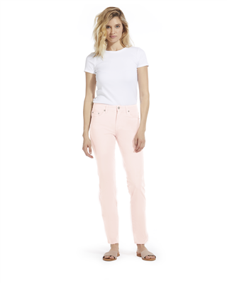 Cotton Twill Stretch Slim-Fit Jeans | Organza Blush