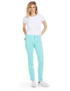 Cotton Twill Stretch Slim-Fit Jeans | Pastel Sky