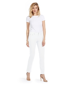 Cotton Twill Stretch Slim-Fit Jeans | White
