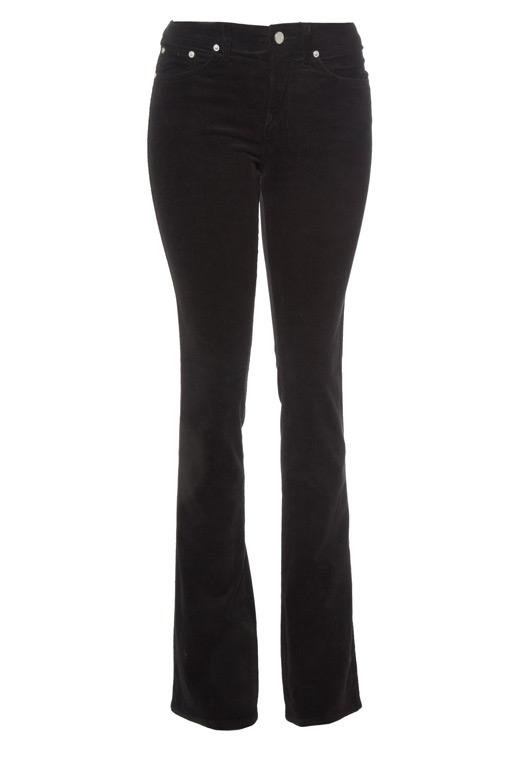Black bootcut corduroy jeans