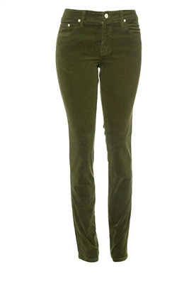 Slim-Fit Stretch Corduroy | Military-Olive