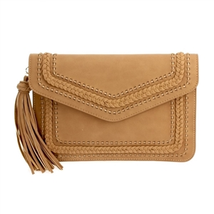 Laser Cut Clutch w/ Tassel