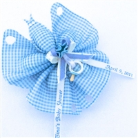 Gingham Butterfly Shower Favors