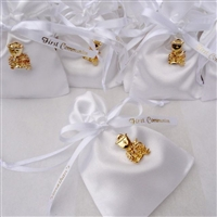 First Holy Communion Favor Pouch in Satin with Chalice Pin and Personalization