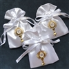 Satin Communion Favor Pouch with IHS Symbol and Personalization