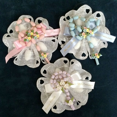 Rosary Ribbon Flower Favor