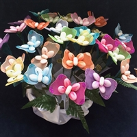 Butterfly Sparkle Confetti Flower