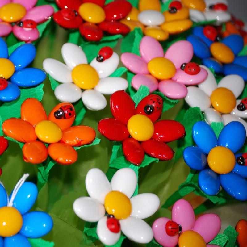 Ladybug Margherita Confetti Flower