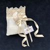 Italian Lace Favor Pouch with Jordan Almonds