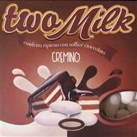 Two Milk Cremino Chocolate Italian Dragees by Confetti Maxtris of Italy