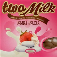 Two Milk Strawberry and Cream Italian Dragees by Confetti Maxtris of Italy