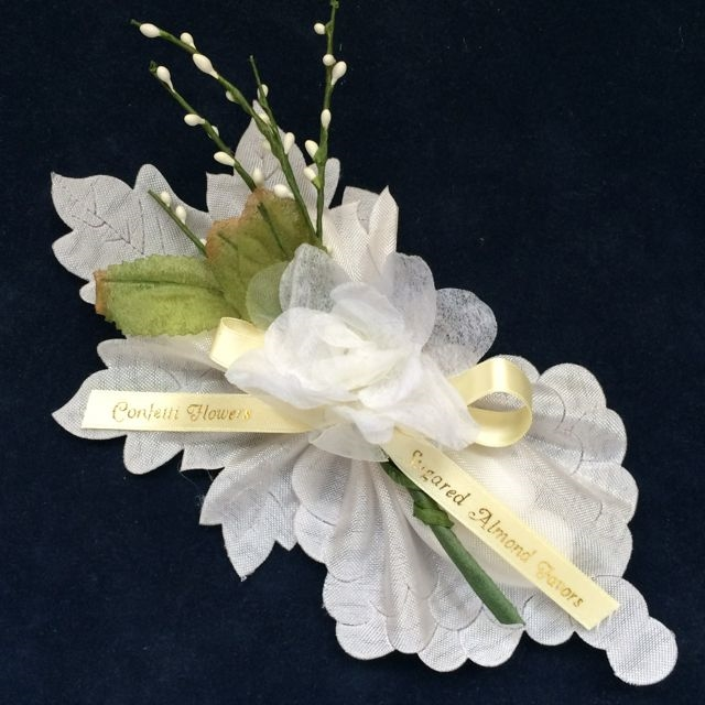 Chianti Ribbon Flower with 5 Jordan Almonds