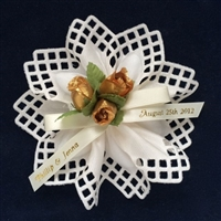 Lucca Ribbon Flower with Roses