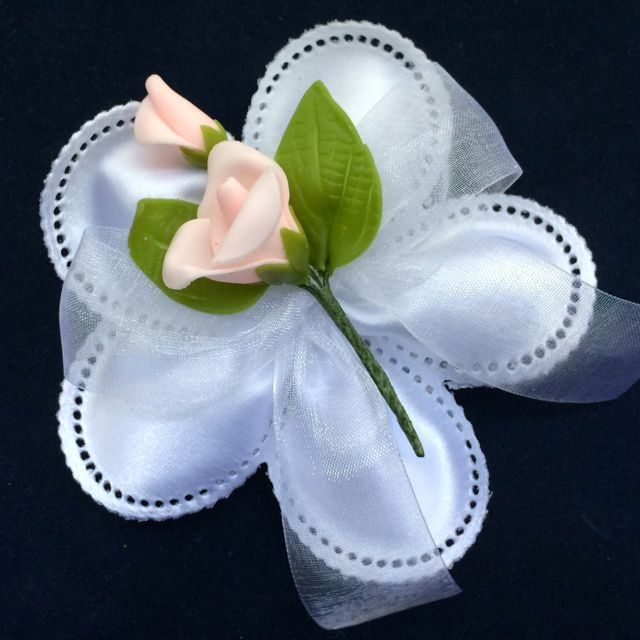 Torino Ribbon Flower with 5 Jordan Almonds