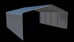 21'W x 20'D x 7'H- 2 Sided Carport
