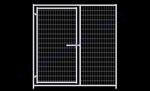 Cactus Dog Kennel Gate Panel 6'W x 6'H