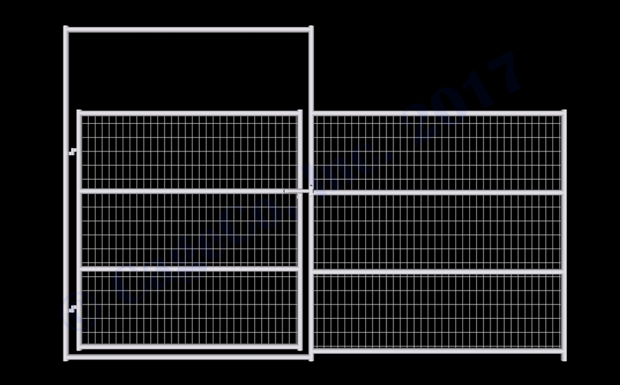 Horse Corral Panels - 1-7/8 Horse Corral Gate 4-Rail with Welded ...