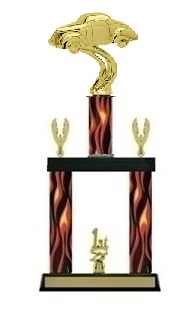 2 Column Flame<BR> Gas Coupe Trophy<BR> 19 to 23 Inches