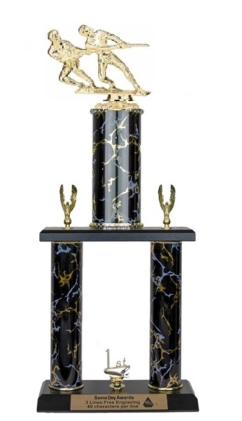 2 Post <BR>Double Tug O War Trophy<BR> 18-23 Inches<BR> 10 Colors