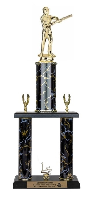 2 Post <BR>M Skeet Shooter Trophy<BR> 18-20 Inches<BR> 10 Colors