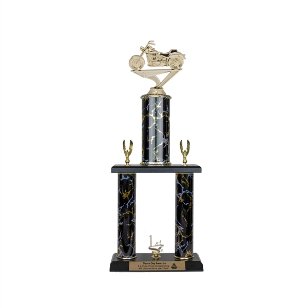 2 Post <BR>Soft Tail Motorcycle Trophy<BR> 18-20 Inches<BR> 10 Colors