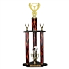 3 Column Flame Trophy<BR> Winged Wheel<BR> 26 to 32 Inches