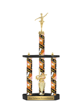 3 Column<BR> Bowling Theme Trophy<BR> 22 to 32 Inches