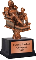 Arm Chair QB<BR> Fantasy Football Trophy<BR> 8 Inches