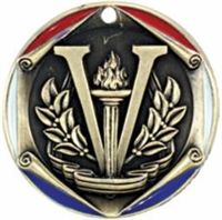 3 Color Die Cast<BR> Victory Medal<BR> Gold/Silver/Bronze<BR> 2  Inches