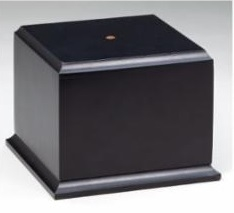 Matte Ebony<BR>Wood Base<BR> 4 Sizes