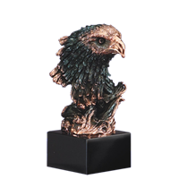 Bronze Eagle Bust Trophy<BR> 8.5 Inches Tall