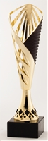 Black and Gold<BR> Trophy Cup<BR> 12.25 and 13.25 Inches