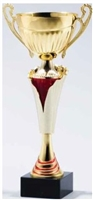 Red/Gold<BR> Trophy Cup<BR> 12.5 to 17.5 Inches