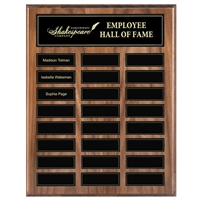 24 Plate<BR> Genuine Walnut<BR> Magnetized Perpetual Plaque<BR> 12x15 Inches