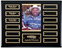 12 Plate<BR> Ebony Piano<BR> Perpetual Picture Plaque<BR> 10.5x13 Inches