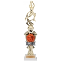 Female Motion Basketball Trophy<BR> 14 Inches