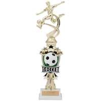 Male Motion Soccer Trophy<BR> 14 Inches