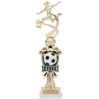 Female Motion Soccer Trophy<BR> 14 Inches