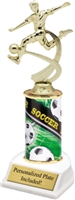 Male Soccer Theme Trophy<BR> 10 Inches
