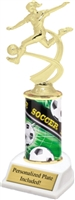 Female Soccer Theme Trophy<BR> 10 Inches