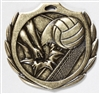Burst Volleyball Medal<BR> Gold/Silver/Bronze<BR> 2.25 Inches