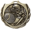 Burst Football Medal<BR> Gold/Silver/Bronze<BR> 2.25 Inches