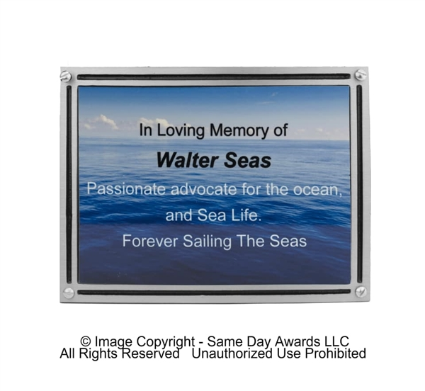 Full Color or Picture<BR> Outdoor Plaque<BR> Cast Aluminum<BR> 4x6 to 8x10 Inches