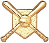 Chenille Pin<BR> Baseball Home Plate