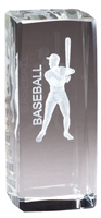 Jr. Collegiate<BR> Baseball<BR> Crystal Trophy<BR> 4.5 Inches