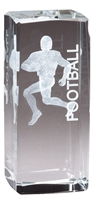Jr. Collegiate<BR> Football<BR> Crystal Trophy<BR> 4.5 Inches