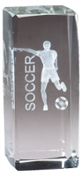 Jr. Collegiate<BR> Male Soccer<BR> Crystal Trophy<BR> 4.5 Inches